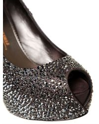Le Silla | Metallic All Over Swarovski Calfskin Pumps | Lyst