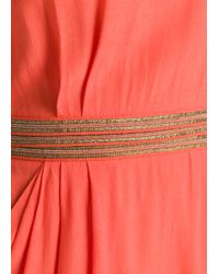 Mango | Red Metal Details Dress | Lyst