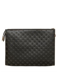 ff6cef5c58c1 Lyst - Marni Laser Cut Houndstooth Leather Bag in Black for Men
