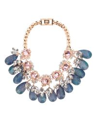 Mawi | Metallic Flower Gemstone Necklace | Lyst