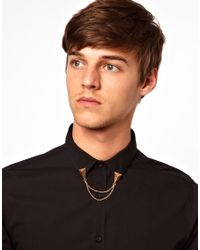 River Island | Metallic Triangle Chain Collar Tips for Men | Lyst
