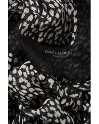 Saint Laurent | Black Etamine Cashmere and Silkblend Scarf | Lyst