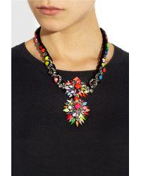 Shourouk - Metallic Cora Zambia Swarovski Crystal Necklace - Lyst
