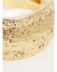 St. John | Metallic Hammered Gold-tone Cuff | Lyst