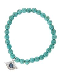Tai - Green Turquoise Evil Eye Bracelet - Lyst