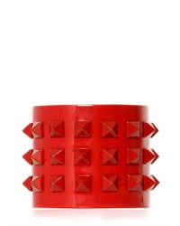 Valentino - Red Large Rockstud Punkouture Bracelet - Lyst