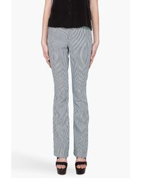 A.L.C. | Blue Myles Striped Midrise Flared Jeans | Lyst