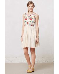 Anthropologie - Multicolor Stitched Soliloquy Dress - Lyst