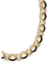 BaubleBar - Metallic Noir Cloisonné Collar - Lyst