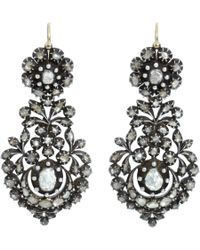 Olivia Collings - Gray Cut Diamond Long Day Night Earrings - Lyst