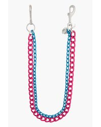 Raf Simons - Oversize Pink and Blue Skull and R Double Keychain for Men - Lyst