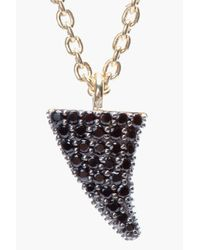 Tom Binns - Metallic Small Black Pave Rose Thorn Bejewelled Pendant Necklace - Lyst