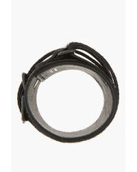 Undercover - Black Calf Hair Wrap Around Strap Cuff for Men - Lyst