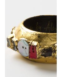Anthropologie - Metallic Mosaic Findings Bangle - Lyst