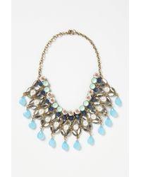 Anthropologie - Blue Fertile Crescent Bib Necklace - Lyst