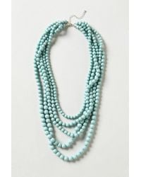 Anthropologie | Blue Seabreeze Beaded Necklace | Lyst