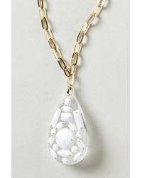 Anthropologie - Metallic Shell Fossil Pendant Necklace - Lyst