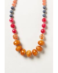 Anthropologie | Orange Catalina Snakeskin Necklace | Lyst