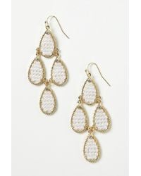 Anthropologie - Metallic Pikeperch Earrings - Lyst