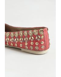 Anthropologie | Pink Jeweled Ballet Flats | Lyst