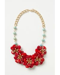 Anthropologie | Red Pin-wheel Blossoms Bib | Lyst