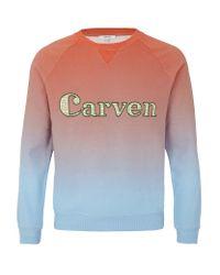 Carven | Blue Degrade Logo Sweater for Men | Lyst