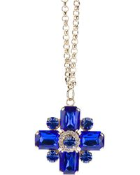 Marina Fossati - Metallic Jewelled Cross Pendant Necklace - Lyst