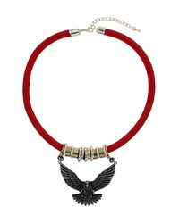 TOPSHOP | Red Eagle Cord Collar | Lyst