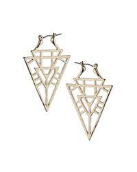 TOPSHOP - Metallic Geo Cut Out Earrings - Lyst