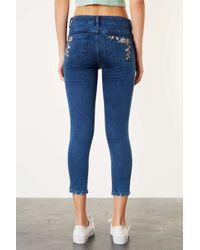 TOPSHOP - Blue Moto Vintage Embroidered Jeans - Lyst