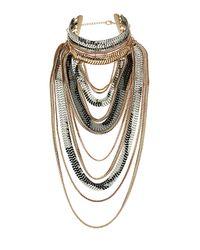 TOPSHOP | Multicolor Mega Chain Drape Necklace | Lyst