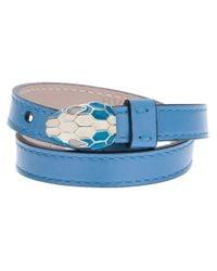 BVLGARI | Blue Snake Head Bracelet | Lyst