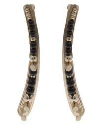 Delphine Charlotte Parmentier - Black Gold Plated Onyx Earrings - Lyst