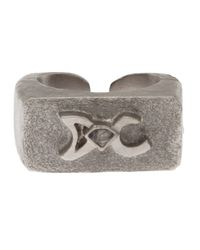 Delphine Charlotte Parmentier - Metallic Palladium Signet Ring - Lyst