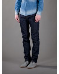 Edwin - Blue 'Ed55 Raw Selvage' Relaxed Jean for Men - Lyst