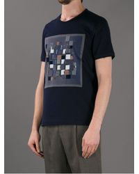 Fendi - Blue Geometric Print Tshirt for Men - Lyst