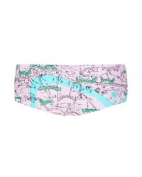TOPSHOP - Pink Rose Pub Map Cheeky Pants - Lyst