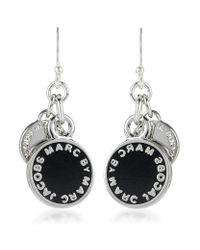Marc By Marc Jacobs - Black Enamel Disc Earrings - Lyst
