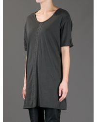 Silent - Damir Doma - Gray Torp Long Fit T-Shirt - Lyst
