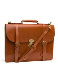 Brooks Brothers Brown Peal Co Triple Gusset Briefcase for men