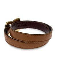Chloé | Brown Marcie Double Leather Bracelet | Lyst