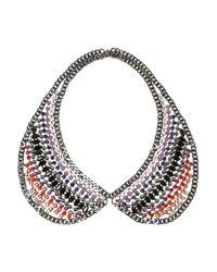 DANNIJO - Metallic Fiorella Gunmetal Plated Swarovski Crystal Necklace - Lyst