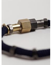 Lanvin | Blue Mens Bolt Bracelet for Men | Lyst