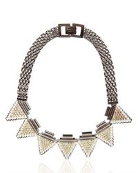 Mawi - Black Deco Glam Triangle Necklace - Lyst