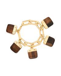 Tory Burch - Metallic Tina Charm Bracelet - Lyst