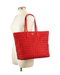 Tory Burch | Red Kelsey Tote | Lyst