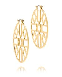 Tory Burch | Metallic Jordan Wire Hoop Earring | Lyst