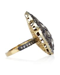Artisan - Black Sterling Silver Diamond Ring - Lyst