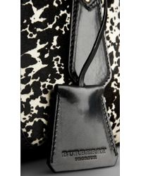 Burberry | Black Animal Print Calfskin Tote Bag | Lyst