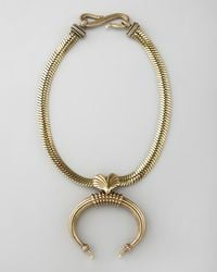 Giles & Brother | Metallic Tusk Pendant Necklace | Lyst